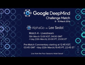 Embedded thumbnail for 人機大戰第四盤李世乭獲勝!AlphaGo VS 李世乭Round 4 (3:1)